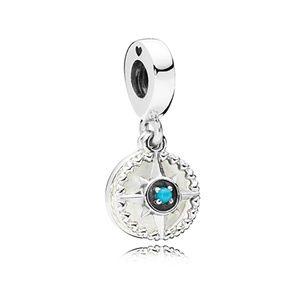 Pandora Blue Compass Rose Dangle Charm 797196EN23